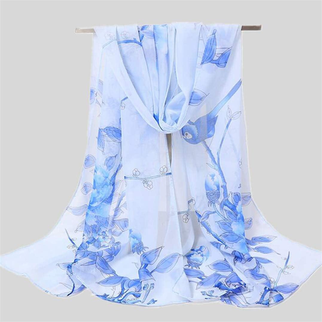 Underleaf Print Silk Feeling Scarf Fashion Scarves Lightweight Shawl Scarf Sunscreen Shawls for Womens