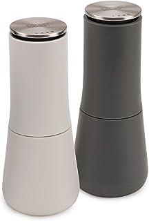 Joseph Joseph - 95036 Joseph Joseph Milltop Salt and Pepper Grinder Set with Adjustable Grind Size Coarseness, Dark Gray/W...