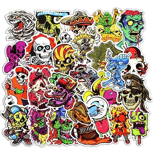 50 Pcs Mixed Funny Horror Stickers for Laptop Phone Skateboard Gepäckaufbewahrung Styling Graffiti Decals Cool DIY Sticker