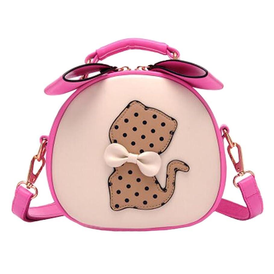 急行するマウスバイオレットレジャーレトロ猫かわいいエレガントなシングルショルダーストラップバッグファッション財布ラブリーショルダーバッグ、ローズレッド