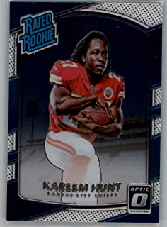 2017 Donruss Optic Football #182 Kareem Hunt Kansas City Chiefs Rated Rookie