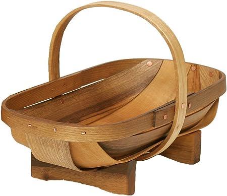 SUSSEX TRUG Home Garden Decor Newly Wooden Garden Fruit Vegetables Basket TRUGS