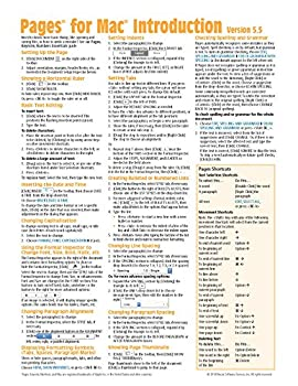 Pamphlet Pages for Mac Quick Reference Guide, version 5.5 or 5.6 Introduction (Cheat Sheet of Instructions, Tips & Shortcuts - Laminated Card) Book