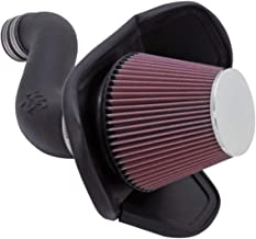 K&N Cold Air Intake Kit with Washable Air Filter: 2005-2010 Dodge/Chrysler (Charger, Challenger, Magnum, 300) 3.5L V6, Black HDPE Tube with Red Oiled Filter, 57-1543