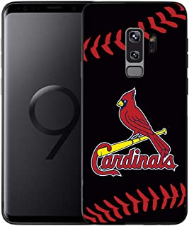Slim Fit Samsung Galaxy S9 Plus Case,Baseball Game Sports Thin Plastic Full Protection Matte Finish Grip Phone Cover Case for Samsung Galaxy S9+Plus Black, Sep9 026