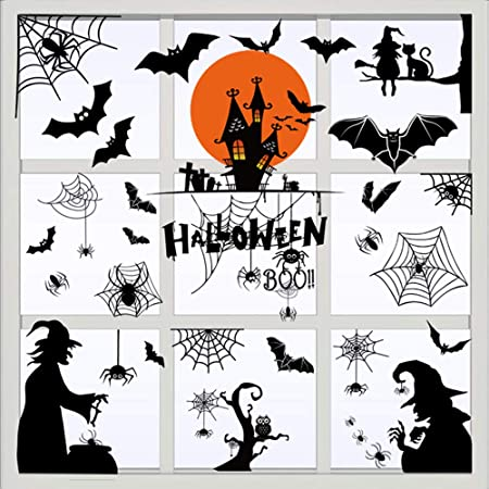 Details about  /Spiders Halloween Vinyl Window Wall Art Sticker Decal Home Decor
