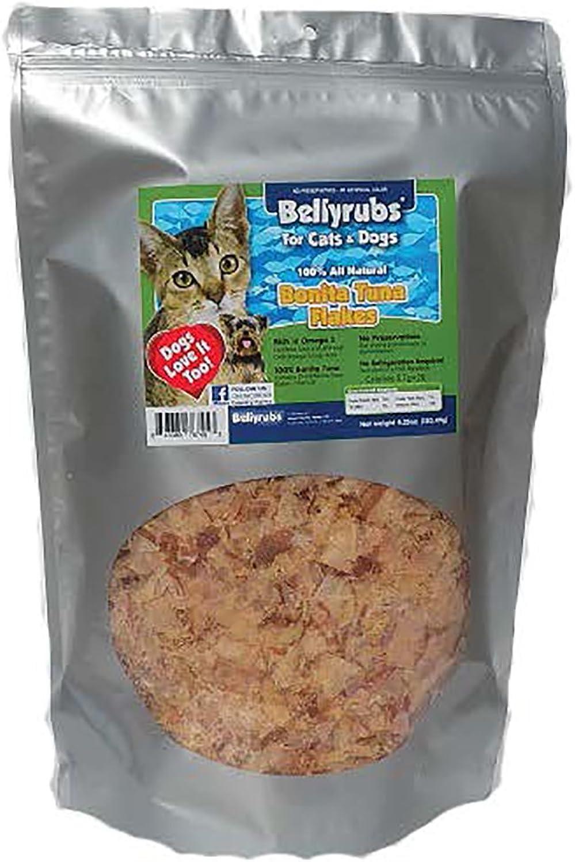 Bellyrubs Tuna Flakes Cat and Dog Treats Jumbo Bag 4.25 Ounces
