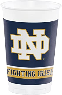 Party Favors Galore 16-ct University of Notre Dame Fighting Irish Plastic 20oz Disposable Cups College Football Party