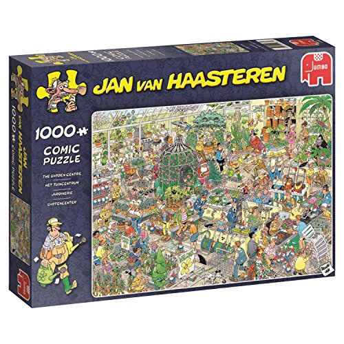 Jumbo Spiele GmbH 19066 Puzzle Jan Van Haasteren Garden Center, 1000 Teile, Multi
