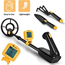 RM RICOMAX Metal Detector for Kids - Junior Metal Detector LCD Display & Buzzer IP68 Waterproof Coil & 2 Pounds Lightweight & One-Press Operation & Various Detection 24 to 35 Inch Adjustable Wireless