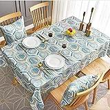 yqs Estilo nórdico geométrico patrones mantel impermeable café mesa cubierta...