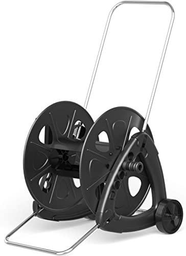 lowest Goplus Wheeled Hose Reel high quality Cart for Garden 2021 Patio Lawn, Hose Storage Cart w/Quick Connectors and Adjustable Nozzle, Max 328ft Capacity, Made in Italy sale