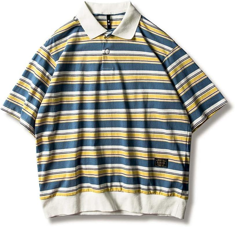 Camiseta para Hombre Camisa Polo a Rayas de Manga Corta for ...