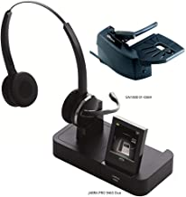 Jabra PRO 9465 Duo Wireless Headset with GN1000 Remote Handset Lifter for Deskphone, Softphone & Mobile Phone