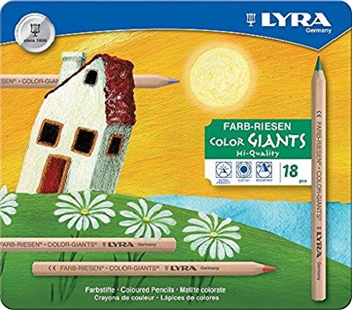 LYRA Farb-Riesen natur Metalletui mit 18 Farbstiften, Sortiert