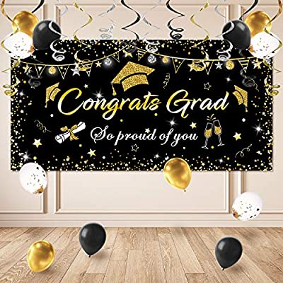 Graduation Decorations Banner and Tablecloth Set, Graduation Decorations, Graduation Party Supplies, Graduation Party Decorations Backdrop, Banner 2021