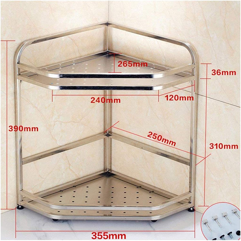 greenical Shelf Unit Kitchen Triangle Shelf Wall-Mounted Seasoning Shelf Floor 304 Stainless Steel Multifunction (Size   25CM)