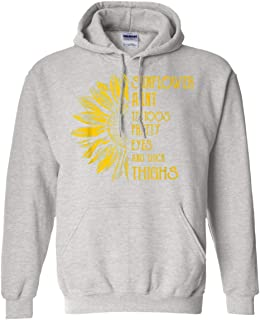 Aunt Tattoos Pretty Eyes and Thick Thighs Sunflower Hoodie Gift