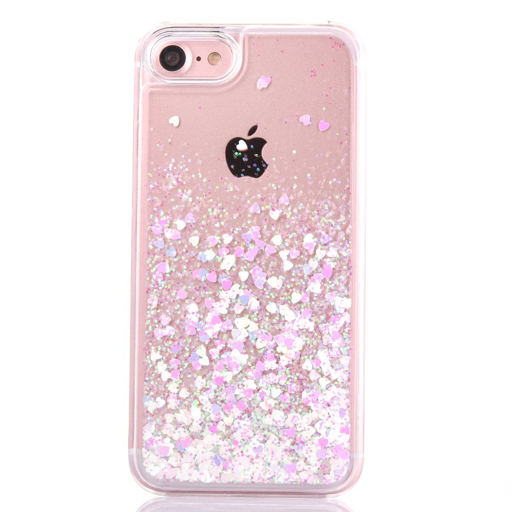 glitter iphone case amazon co ukiphone 7 case [with tempered glass screen protector],mo beauty flowing liquid
