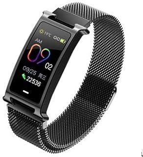 JXFS Smart Watch Fitness Tracker Pulsómetro Podómetro Pulsera Impermeable Actividad Bluetooth Pulsera Deportiva Negra