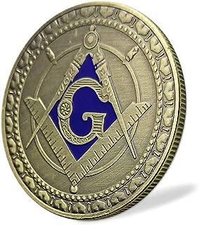 Masonic Angel Challenge Coin Square & Compass Freemasonry Master Mason Collectible Giftfor Blue Lodge