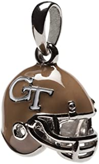 Georgia Tech Charm | GT Yellow Jackets - 3-D GT Football Helmet Charm | Officially Licensed Georgia Tech Jewelry | Georgia Tech Gifts | GT Charms | Georgia Tech Football | GT Gifts | Stainless Steel
