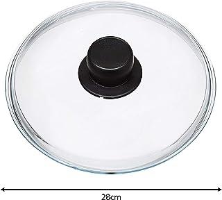 Spares2go - Tapa de cristal Pyrex universal grande para cacerolas, arroz y sartenes (28 cm)