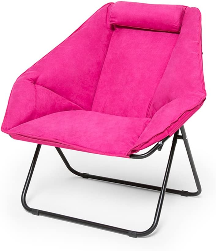 LYZZDY Yxsd Home shipfree Folding Tulsa Mall Chair Large Cha Suede Lazy Thick Casual