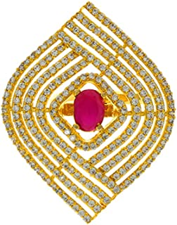 Anuradha Art Pink Colour Very Classy Adorable American Diamonds Stone Wonderful Traditional Finger Ring for Women/Girls