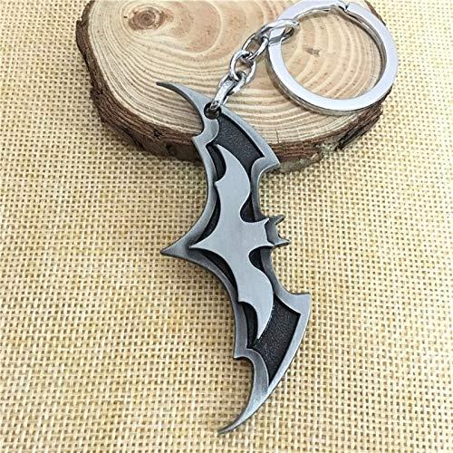 Porte-clés tendance 2020 avec motif Avengers Union Batman pour sac à main, pendentif de voiture, bijou pour homme et femme (argenté)