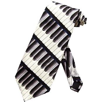 Steven Harris Mens Piano Keys Pianist Necktie - Black - One Size Neck Tie