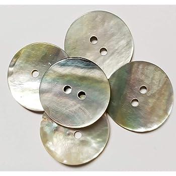 50 Botones Nacar Concha Natural de 20 mm - Akoya - Accesorio de costura - FABRICADO y ENVIADO desde España …: Amazon.es: Hogar