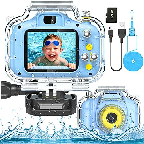 Kids Waterproof Camera Digital Sports Camera Toys 2 Inch HD IPS Screen...