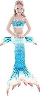 3-Piece Girl Mermaid Swimsuit, Mermaid Tail Swimsuit, Bikini Swimsuit Set Costume