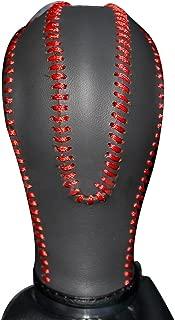 XUJI Black Genuine Leather Gear Shift Knob Cover for Infiniti FX35 / G37 / EX35 / FX50 / FX37 EX37 EX25 IPLG 2013 / G25 / G35 / QX56 / QX80 / QX70 / QX50 / Q60 / Q40 2015 Automatic