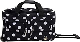 "Rockland 22"" Rolling Duffle Bag, Blackdot (Black) - PRD322-BLACKDOT"