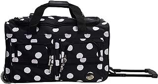 """Rockland 22"""" Rolling Duffle Bag, Blackdot (Black) - PRD322-BLACKDOT"""