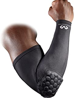 Mcdavid 6500 Hex Padded Arm Sleeve, Compression Arm Sleeve w/ Elbow Pad for Football, Volleyball, Baseball Protection, Youth & Adult Sizes, Sold as Single Unit (1 Sleeve)