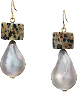Baroque Pearl And Bead Drop Earrings