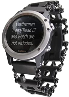 BestTechTool watch adapter compatible with LEATHERMAN TREAD and compatible with GARMIN watch (Vivoactive 3, Black-LT)