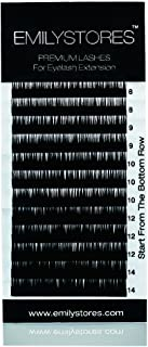 EMILYSTORES Eyelash Extensions Individual Loose Signature Mink Eyelash D Curl Thickness 0.10mm Length 8mm 9mm 10mm 12mm 14mm Silk Lashes Asort Mixed In One Tray