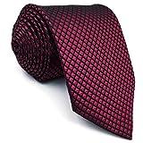 Shlax&Wing Hochzeit Neu Herren Seide Krawatte Rot Einfarbig Extra lang