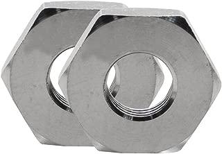 DERNORD Cast Pipe Fitting Stainless Steel 304 Hex Locknut NPT Female (1/4 Inch)