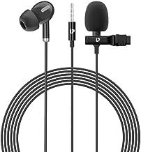 UltraProlink UM1035 ProLAV Lavalier Omnidirectional Condenser Microphone with Earphone for Webinars, Vlogging, Gaming & Po...