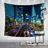 GenericBrands Paysage Urbain Tapisserie Accrocher Tissu Fond Nappe en Tissu Serviette De Plage Tenture Murale pour Chambre Salon Dortoir