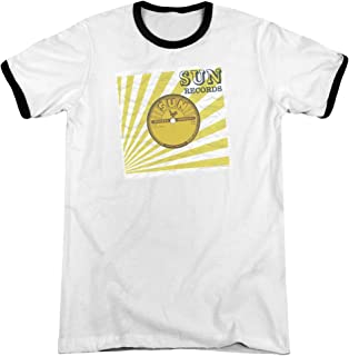 Sun Records Media Company Record Label Forty Five Adult Ringer T-Shirt Tee