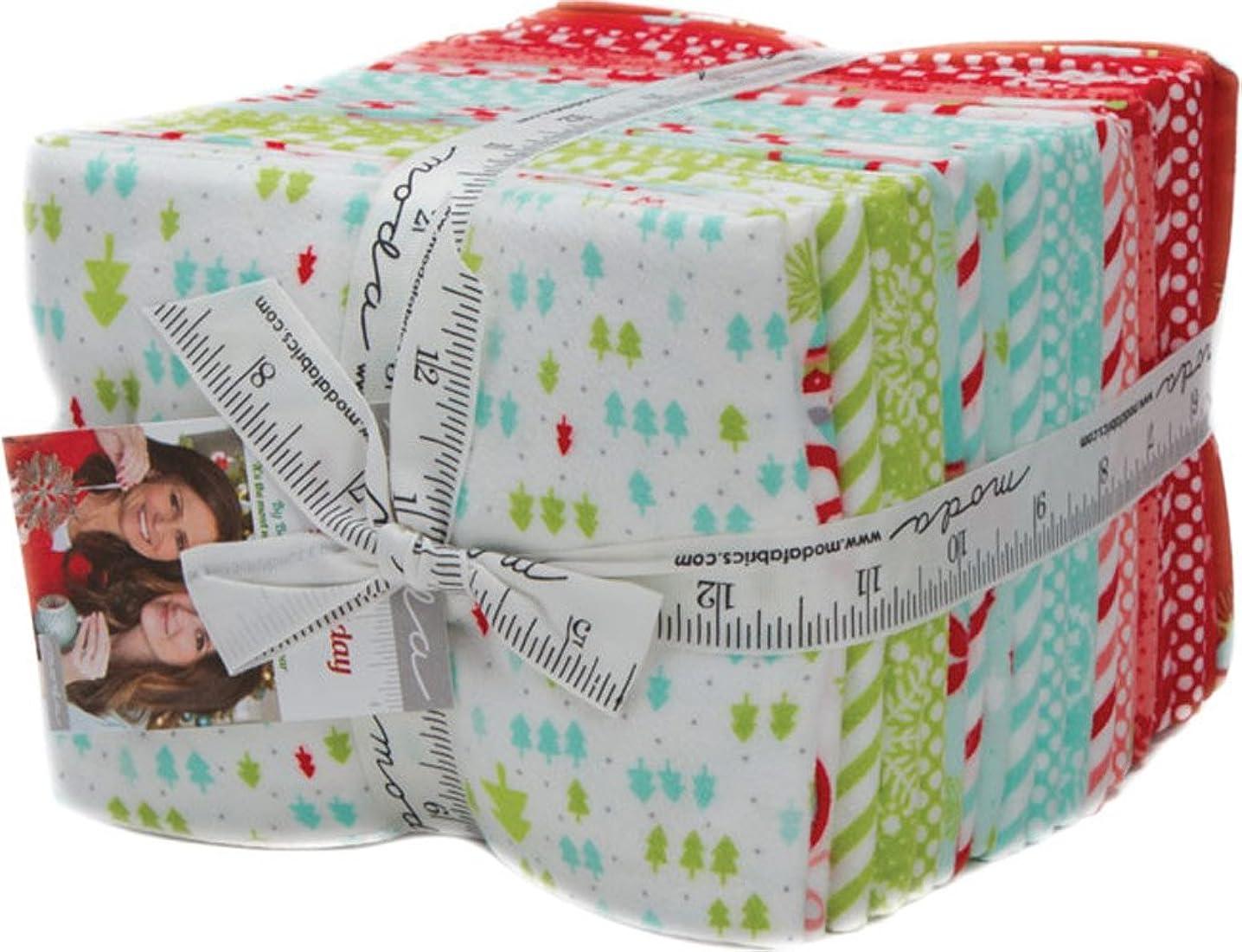 Vintage Holiday Flannel Fat Quarter Bundle 20 Precut Cotton Fabric Assortment by Bonnie & Camille for Moda 55160ABF