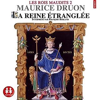 La reine étranglée audiobook cover art