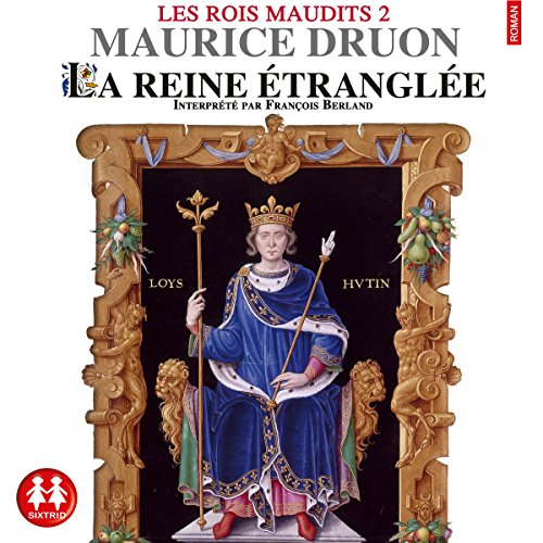 La reine étranglée audiobook cover art