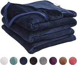 LIANLAM Queen Size Fleece Blanket Lightweight Super Soft and All Season Warm Fuzzy Plush Cozy Luxury Bed Blankets Microfiber (Royal Blue, 90